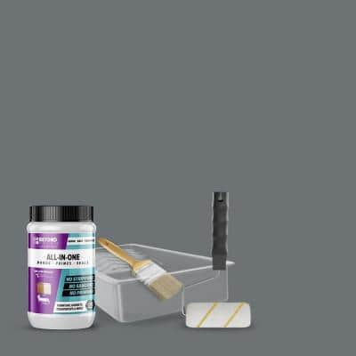 1 qt. Pewter Furniture Cabinets Countertops and More Multi-Surface All-in-One Interior/Exterior Refinishing Kit
