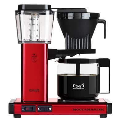 KBG 10-Cup Red Drip Coffee Maker