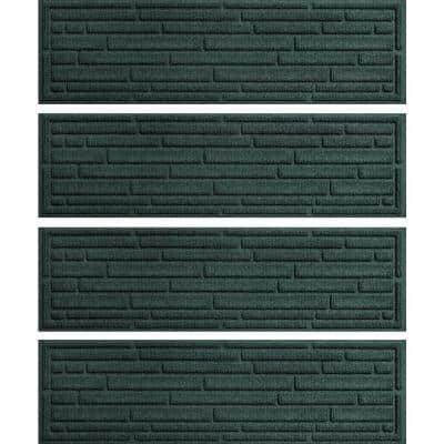 Broken Brick  8.5 in. x 30 in. Stair Treads (Set of 4) Evergreen