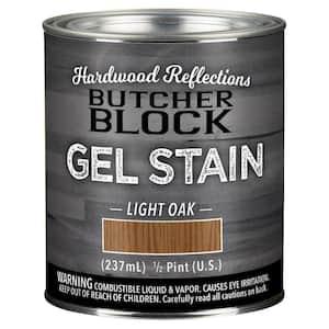 1/2-Pint Light Oak Oil-Based Satin Interior Butcher Block Wood Gel Stain