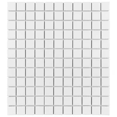 Metro Square Matte White 11-3/4 in. x 12-7/8 in. Porcelain Mosaic Tile (10.72 sq. ft./Case)