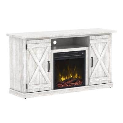 Cottonwood 47.50 in. Media Console Electric Fireplace in White