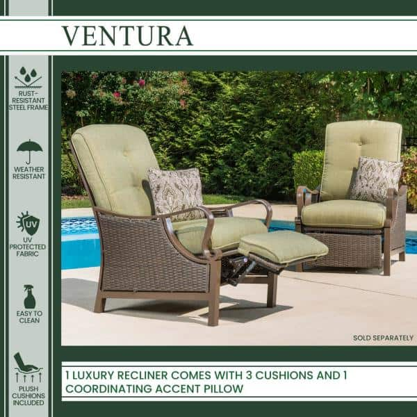 Hanover Ventura Reclining Wicker, Patio Furniture Ventura Ca