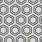 Georama Nero 13 in. x 11 in. x 10mm Polished Marble Mesh-Mounted Mosaic Tile (9.9 sq. ft. / case)