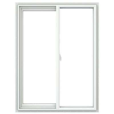35.5 in. x 47.5 in. V-2500 Series White Double Hung Vinyl Window with Fiberglass Mesh Screen