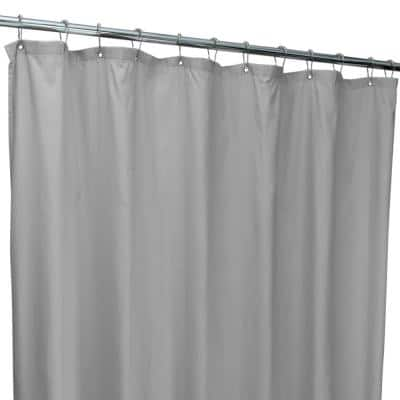 70 in. x 72 in. Silver Microfiber Soft Touch Diamond Design Shower Curtain Liner