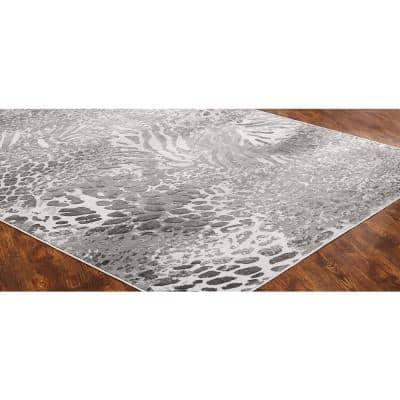 Machine Made 9 X 12 Animal Print Area Rugs Rugs The Home Depot