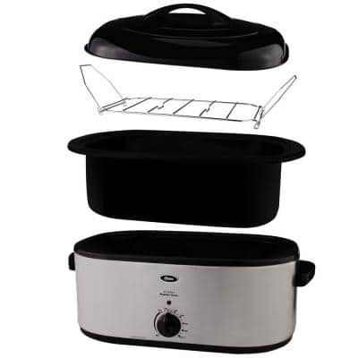 22 qt. Roaster Oven with Self-Basting Lid in Stainless Steel