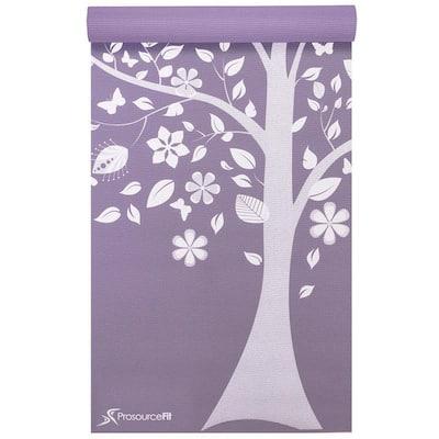 Tree of Life 72 in. L x 24 in. W x 3/16 in. T Inspired Design Print Yoga Mat Non Slip (12 sq. ft.)
