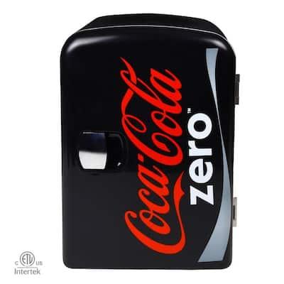 0.14 cu. ft. Zero Portable Mini Fridge in Black without Freezer
