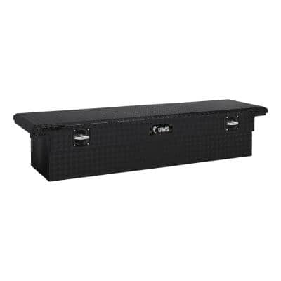 """Matte Black Aluminum 69"""" Secure Lock Tool Box with Low Profile (Heavy Packaging)"""