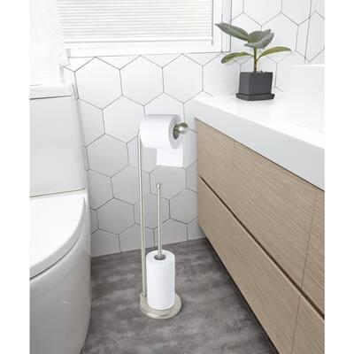Teardrop Toilet Paper Stand in Nickel