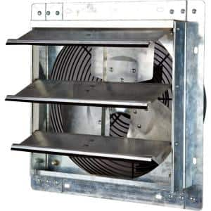 772 CFM Silver Electric Powered Gable Mount Shutter Fan/Vent