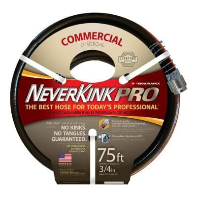 NeverKink 4000 50 ft. L, 75 in. Dia. Heavy-Duty Commercial Use Garden Hose