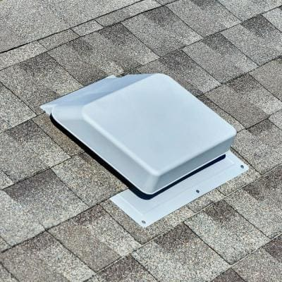 37 sq. in. NFA Gray Resin High Impact Super Low-Profile Slant Back Roof Louver Static Vent (Carton of 10)