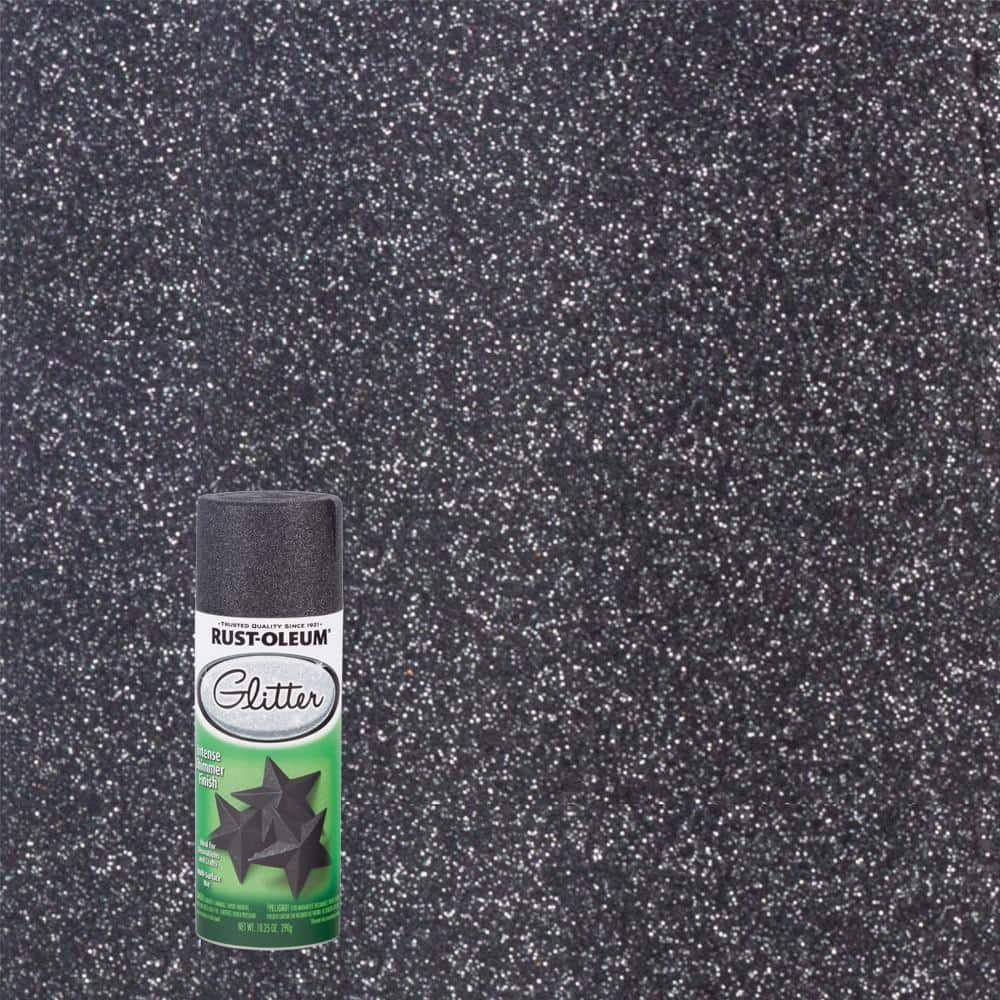 Rust-Oleum Specialty 10.25 oz. Midnight Black Glitter Spray Paint (6-Pack)
