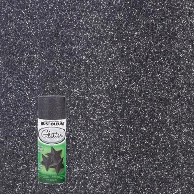 10.25 oz. Midnight Black Glitter Spray Paint (6-Pack)
