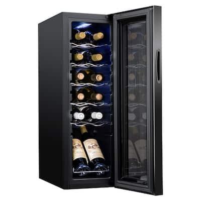 9.9 in. 12 Bottle Compressor Freestanding Wine and Beverage Cooler