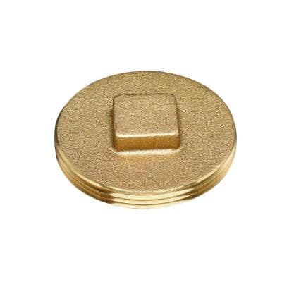 2 in. Brass Threaded Cleanout Plug