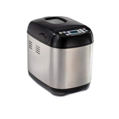 2 lb. Artisan Black and Stainless Steel Dough and Bread Maker with 14-Program Settings