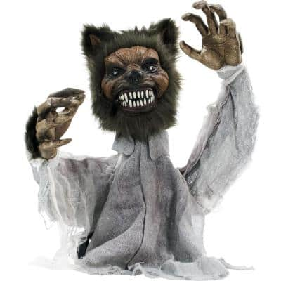 28 in. Touch Activated Animatronic Werewolf