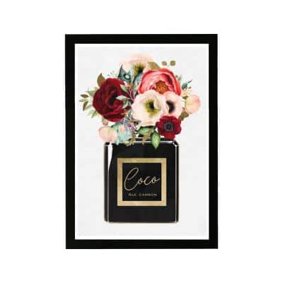 Floral Gold Perfume' Framed Nature Art Print 19 in. x 13 in.