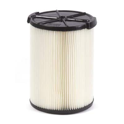 1-Layer Standard Pleated Paper Filter for Most 5 Gal. and Larger RIDGID Wet/Dry Shop Vacuums