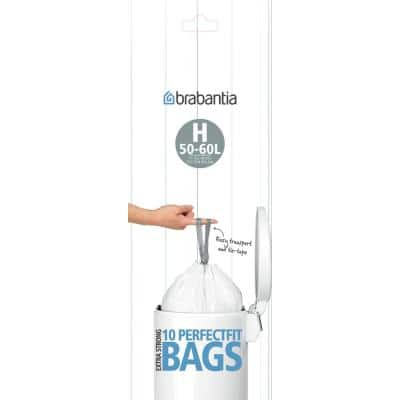 16 Gal. (50 L - 60 L) Perfectfit Trash Can Liners Code H 120 Liners (12-Packs of 10 Liners)