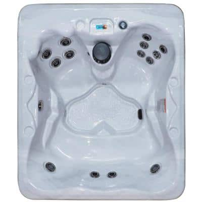 Key West 5-Person Dura Shell 42-Stainless Steel Jets Plug and Play Hot Tub with Starburst LED Light and Hardcover