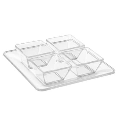 4-Dish Serving Tray Set