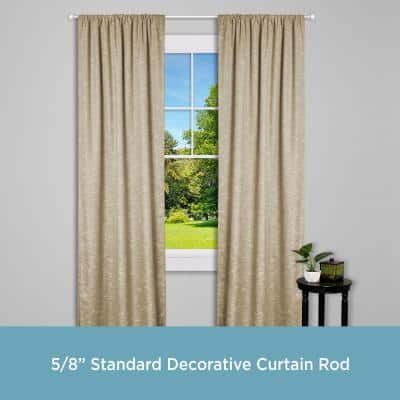 Chelsea 48 in. - 86 in. Single Curtain Rod in Brushed Nickel with Finial