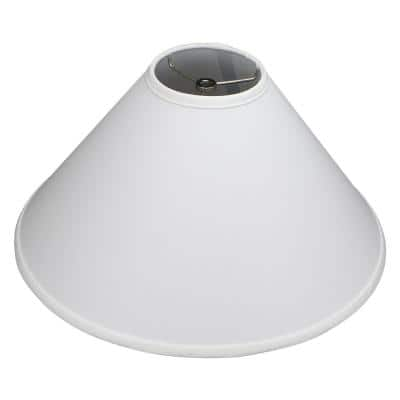 18 in. W x 9 in. H White/Nickel Hardware Coolie Lamp Shade