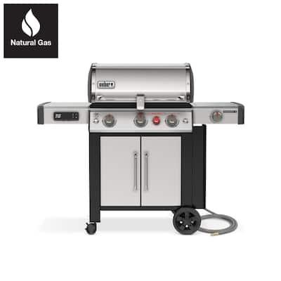 Genesis II SX-335 3 Burner Natural Gas Smart Grill in Stainless Steel