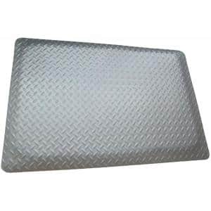 Diamond Plate Anti-fatigue Mat Gray 2 ft. x 2 ft. x 15/16 in. Commercial Mat