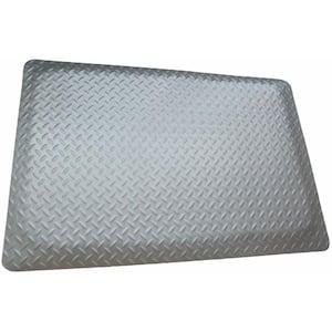 Diamond Plate Anti-fatigue Mat Gray 2 ft. x 2 ft. x 9/16 in. Commercial Mat