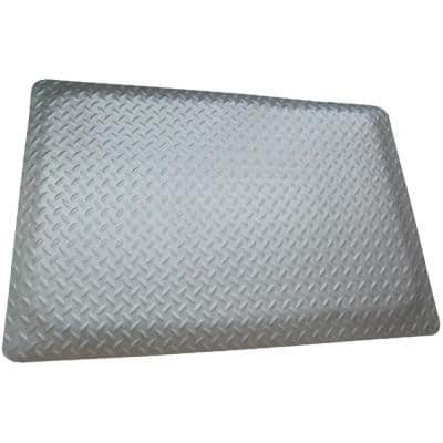 Diamond Plate Gray 3 ft. x 13 ft. x 9/16 in. Anti-Fatigue Commercial Mat