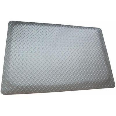 Diamond Plate Anti-fatigue Mat RHI-NO SLIP Gray 4 ft. x 3 ft. x 9/16 in. Commercial Mat