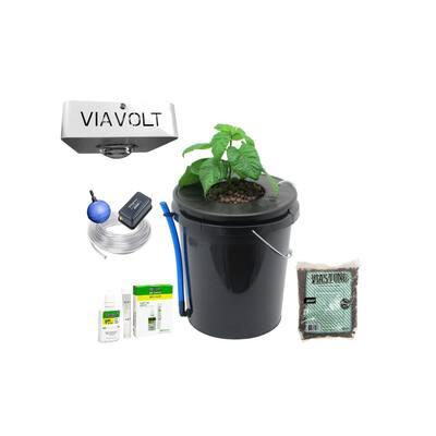 Hydroponic Deep Water Culture Bucket with 65-Watt LED Grow Light