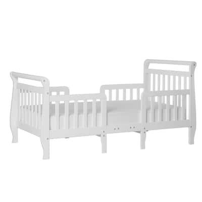 Emma White Toddler Sleigh Bed