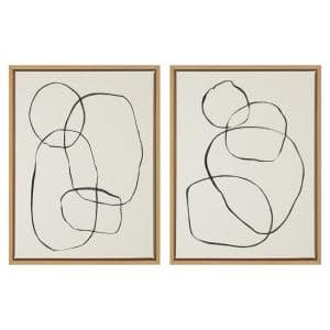 Sylvie ''Modern Circles'' by Teju Reval of Snazzyhues Framed Canvas Wall Art Set 24 in. x 18 in.