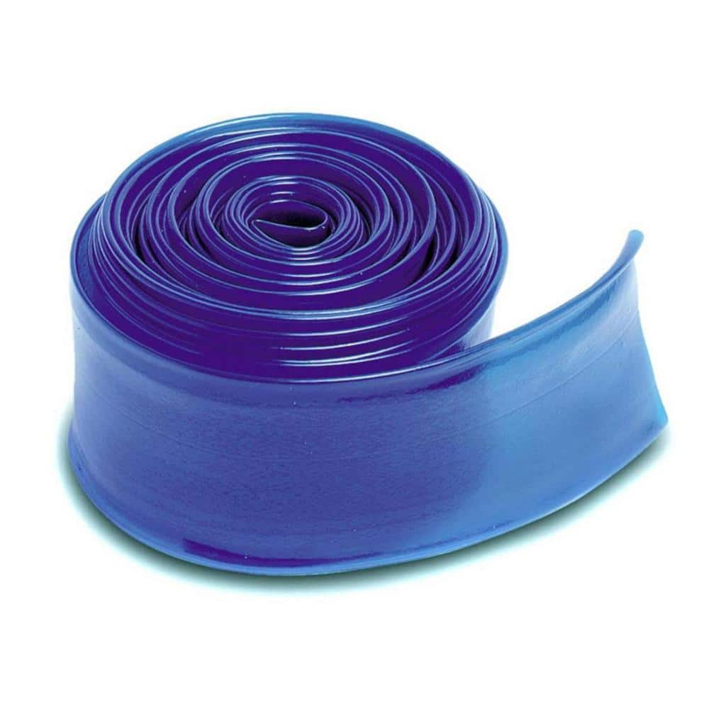 Pool Central 100 Ft X 1 5 In Heavy Duty Pvc Transparent Swimming Pool Filter Backwash Hose In Blue 32750840 The Home Depot