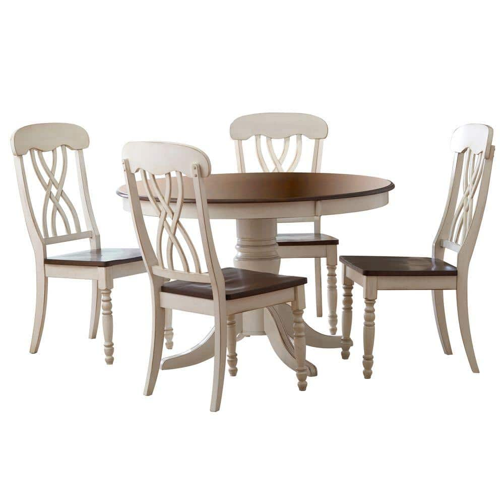 HomeSullivan 9 Piece Antique White and Cherry Dining Set 9W 9[9PC]    The Home Depot