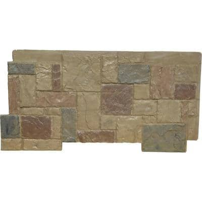 49 in. x 24-1/2 in. Castle Rock Stacked Stone Stonewall Faux Stone Siding Panel