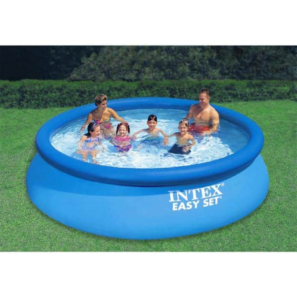 Intex 12 Ft X 30 In Easy Set Above Ground Pool Filter Pump And Krill Automatic Vacuum 28131eh Ac11cbx The Home Depot