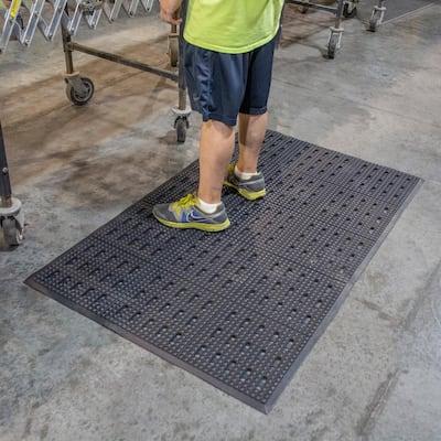 36 in. x 60 in. Industrial Anti-Fatigue Rubber Floor Mat