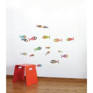 Adzif 33 In X 26 In Multi Color Pelican Kids Wall Decal L6028 Ajv5 The Home Depot