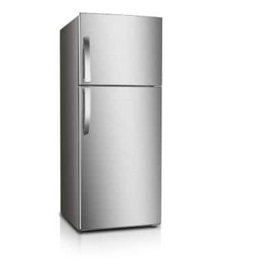 12 cu. ft. Frost Free Top Freezer Refrigerator in Stainless Steel