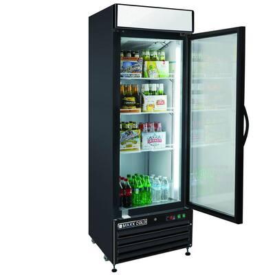 X-Series 23 cu. ft. Single Door Merchandiser Refrigerator in Black