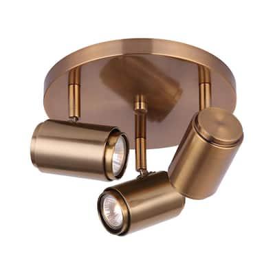 Shale 14.75 in. 3-Light Gold Halogen Track Lighting Kit