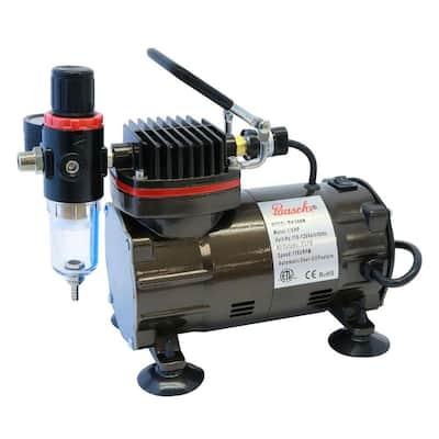 1/5 Hp Black Compressor With Regulator And Auto Shutoff